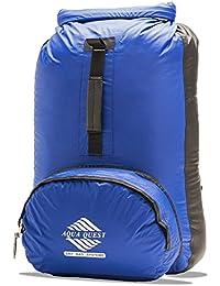 L'HIMAL Sac Étanche par Aqua Quest - Sac à Dos de 20L 100% Imperméable - Ultra-léger, durable, confortable, pliable, compact - Bleu