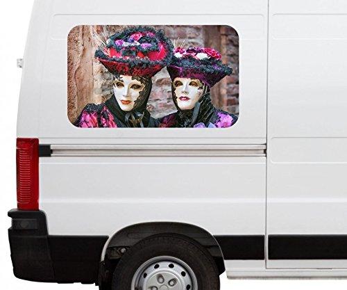Autoaufkleber Karneval Maske Renaissance Ball Italien Venedig Car Wohnmobil Auto tuning Digital...
