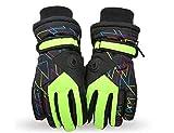 Kinder Skifahren Handschuhe Skihandschuhe Kinder Schnee Handschuhe Outdoor Handschuhe Sport Handschuhe Winter Handschuhe,Grün
