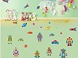 UFO Robots Saturn Home Wandaufkleber Wandtattoo Deko Kunst