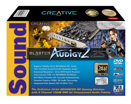 Creative Labs Sound Blaster Audigy2 ZS 24-bit 192 kHz Sound Card