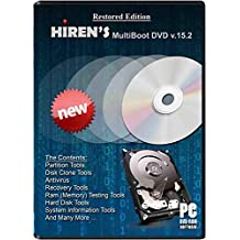 Hiren Boot cd RECOVERY PC REPAIR DVD Disc Virus Removal Password Utilities Clone