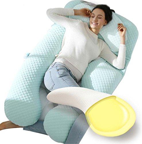 Ganzkörperkissen Schwangere U- geformt für extra Komfort? Regulierung 360 ° Side Schlaf für Maternity Belly / Multifunktionale Total BodySchwangerschaft Maternity Pillow