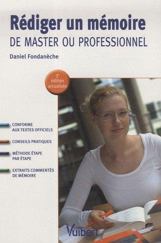 Rédiger un mémoire de master ou professionnel