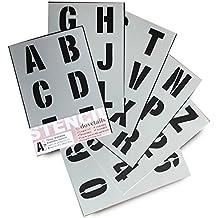 Plantillas del Alfabeto – 7 cm de altura – Numeros & Numeros 0-9,