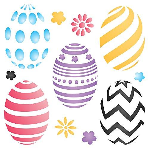 Uova di pasqua stencil–riutilizzabili decorato di uova holiday decor stencil da–da usare su carta progetti scrapbook journal muri pavimenti tessuto mobili in vetro legno etc. m