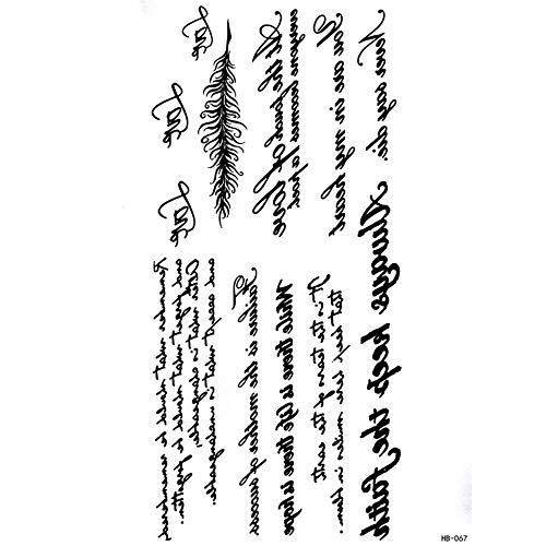 ZHAOSN Etiqueta engomada del tatuaje Brazalete De Tatuaje para Hombre Piernas Protésicas Tatuaje Temporal Pegatinas Mano Falsa Tatuaje Adulto, A
