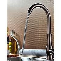 MEICHEN-rubinetto tradizionale olio-sfregato Finitura di bronzo un foro singolo deck maniglia montata girevole Spray estraibile rubinetto di