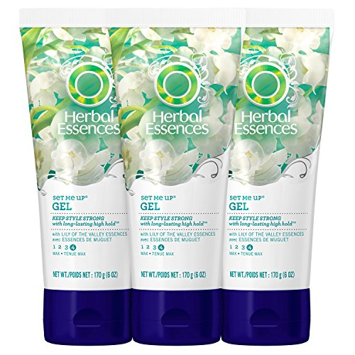 Herbal Essences - Gel capillaire Set Me Up - Tenue maximale - 175 ml (Lot de 3)