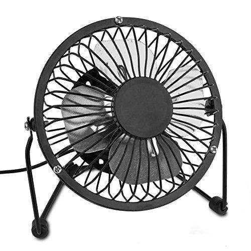 Mini USB Ventilateur de Bureau / Fan Ultra Silencieux , Yompz Rotation 360 Degrées, 4 Pouces, Portable et Pratique Fan, pour ordinateur / ordinateur portable | noir