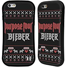 Official Justin Bieber Purpose Tour Knitted Christmas Hybrid Case for Apple iPhone 6 / 6s