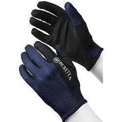 Beretta Hombres Dedo Completo de Malla de Disparo Guante, Hombre, Azul Marino