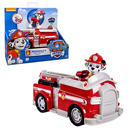 Paw Patrol - Fahrzeuge mit beweglichen Spielfiguren zur Auswahl, Figur:Marshall