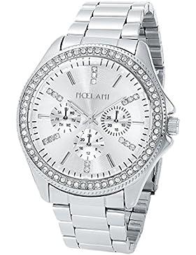 Noelani Damen-Armbanduhr Chrono-Optik Analog IP Silber Quarz Edelstahl Swarovski Kristalle - 9217816