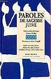Telecharger Livres Paroles de sagesse juive (PDF,EPUB,MOBI) gratuits en Francaise