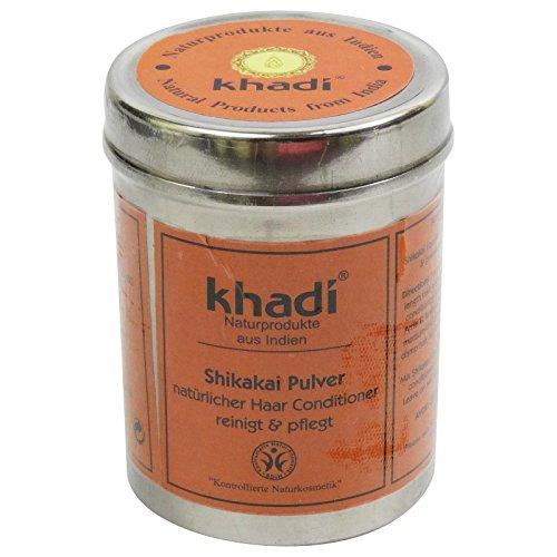 Pflanzliche Adstringierend (Khadi Shikakai pflanzliches Shampoo in Staub Tinktur Nährende Anti-Schuppen-adstringierend)