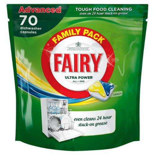 Fairy all in one lavastoviglie compresse limone 70per confezione di 6