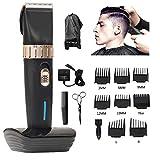 MXIN Tondeuse Cheveux Hommes Hommes Coupe-Cheveux de précision sans Fil Coupe-Poils Set 8 Guides Peignes, Tondeuse Hommes, Femmes, Enfants, coiffeurs stylistes