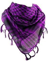 *** PROMOTION *** Foulard Palestinien - Keffieh - Chèche - Pashimina - Violet et Noir
