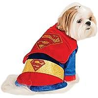 Costume Superman brillante per cane travestimento carnevale halloween  cosplay per cani vestito con mantello di superman 9edb3075baf5