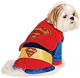 Costume Superman brillante per cane travestimento carnevale halloween cosplay per cani vestito con mantello di superman prodotto ufficiale supereroi porta anche il tuo cane alla festa in maschera (M)