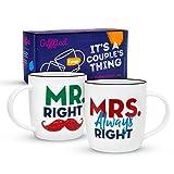 Gifffted Tazze Coppia Da Tè E Caffe, Mr E Mrs Always Right, Regali Per Le Coppie, Colazione, Idee...