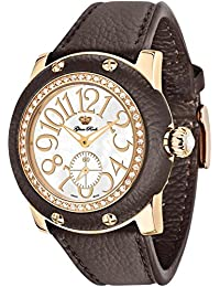 GLAM ROCK WOMEN'S MIAMI 46MM BROWN LEATHER BAND SWISS QUARTZ WATCH GR10066D1
