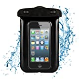 SumacLife Waterproof Pouch for Samsung/HTC/iPhone - Retail Packaging - Black