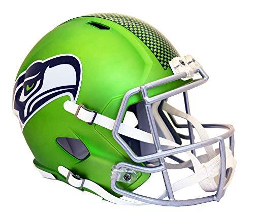 Sports_Memorabilia Riddell Deluxe Replica Helmet Blaze Club Seahawks