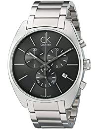 Calvin Klein K2F27161 - Reloj analógico de caballero de cuarzo con correa de acero inoxidable plateada