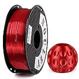 Noulei Filamento de para impresión 3d 1.75mm PLA, Silk RED Shiny Printing Filament 1KG 1 Spool