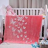 i-baby Coperta Bambino Morbide Flanella Coperte Ragazzi Ragazze 110x140cm 4 Stagioni Copertine Letto Scuola Materna Asilo Nido per Capretti 1 2 3 4 5 6 Anni (rosa)