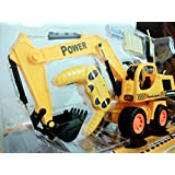 PLAY DESIGN BIG Full Function Channel RC Hydraulic Excavator & Bulldozer Construction Vehicle Toy With 360 Degree Cabin Rotation (Multicolor)