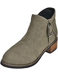 Show Stopper Grey Coloured Nubuck Leather Upper Shoes For Women's