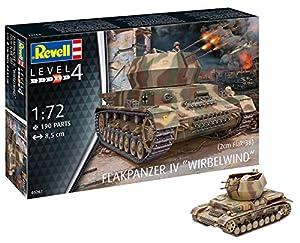 Revell Maqueta de Tanque Flakpanzer IV Wirbelwind (2 cm Flak 38), Kit Modelo, Escala 1: 72 (03267), 8,5 cm de Largo