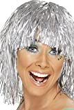Smiffys 20877 Déguisement - Femme - Perruque Guirlande de Noël, Argenté, Taille Unique