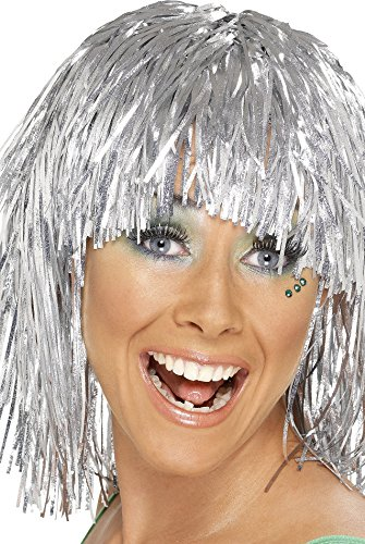 Smiffy's Cyber Tinsel Wig. Ideal for 70s Sci-fi look or Christmas Party