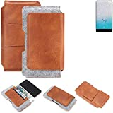 K-S-Trade Gürteltasche für Ulefone F1 Gürtel Tasche Schutz Hülle Hüfttasche Belt Case Schutzhülle Handy Hülle Smartphone Sleeve aus Filz + Kunstleder (1 St.)