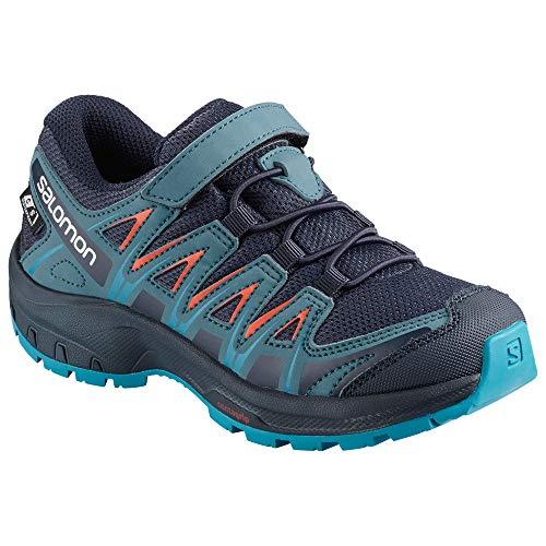 Salomon XA Pro 3D CSWP K, Zapatillas de Deporte Unisex Niños, Azul/Naranja Navy Blazer/Mallard Blue/Hawaiian...