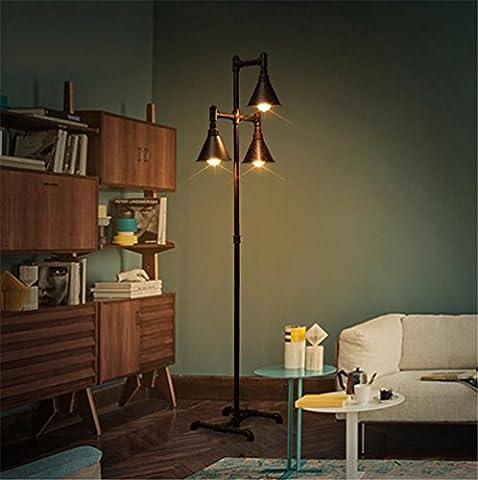 BZJBOY Lampadaire Universal Lighting et Decor Torchère avec 3-Lights, Fer