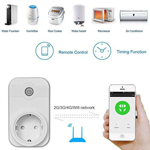 WiFi Smart Steckdose, Intelligente WLAN Steckdose, Kompatibel mit Alexa und Google Home, Timing Funktion, APP Fernbedienung Ihre Geräte überall,kein Hub erforderlich (1 Pack) (1PCS)
