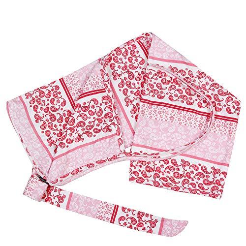 Feather Hug Women's Indian Floral Print Cotton Nursing Cover Apron Cloak (Red)