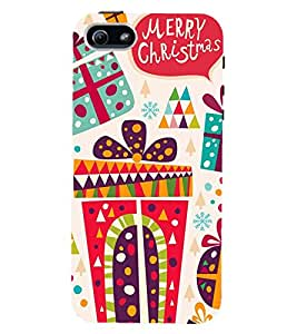 printtech Merry Christmas Back Case Cover for Apple iPhone 5::Apple iPhone 5S