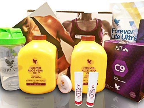 Clean 9 PASST Neu Forever Living Aloe Vera Diät & Gewichtsverlust Plan dass entwickelt, um helfen sie gewicht verlieren in einem gesünder herrenhaus und imker diese funktion ausgeschaltet kick-start the gesund du Dieses angebot hat 2 zwei Aloe lip-balsam kostenlos)