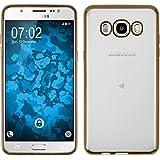 Funda de silicona para Samsung Galaxy J5 (2016) J510 - Slim Fit oro - Cover PhoneNatic Cubierta + protector de pantalla