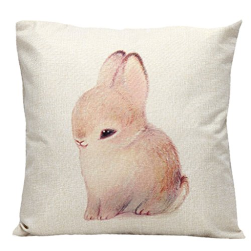 Ostern Dekoration Kissenhülle Hase Kissenbezug 45*45cm kleine Hase