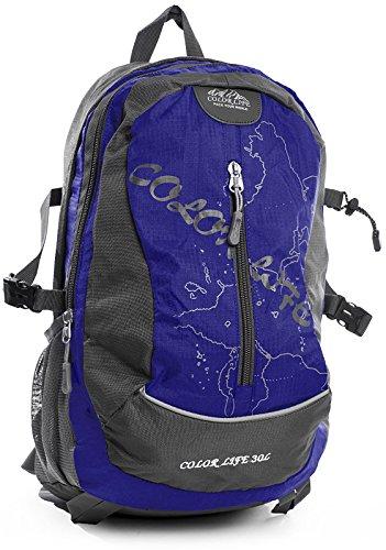 Big Handbag Shop Sac à dos unisexe pour l'école, le sport ou les voyages - Bleu - bleu, One