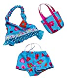 Best Matching Stuffed Animals - Blue Floral Tankini with Matching Bag Outfit Teddy Review