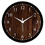 Efinito Gifts 12 inch Designer Wall Clock - Checkered (Silent Movement, Black Frame)