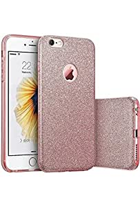 iPhone 6/6S Luxury Glitter Sparkle Bling Designer Case [Slim Fit, Hard Back Cover] Shining Fashion Style Pink Mobile Back Case by KavyaJewelss …